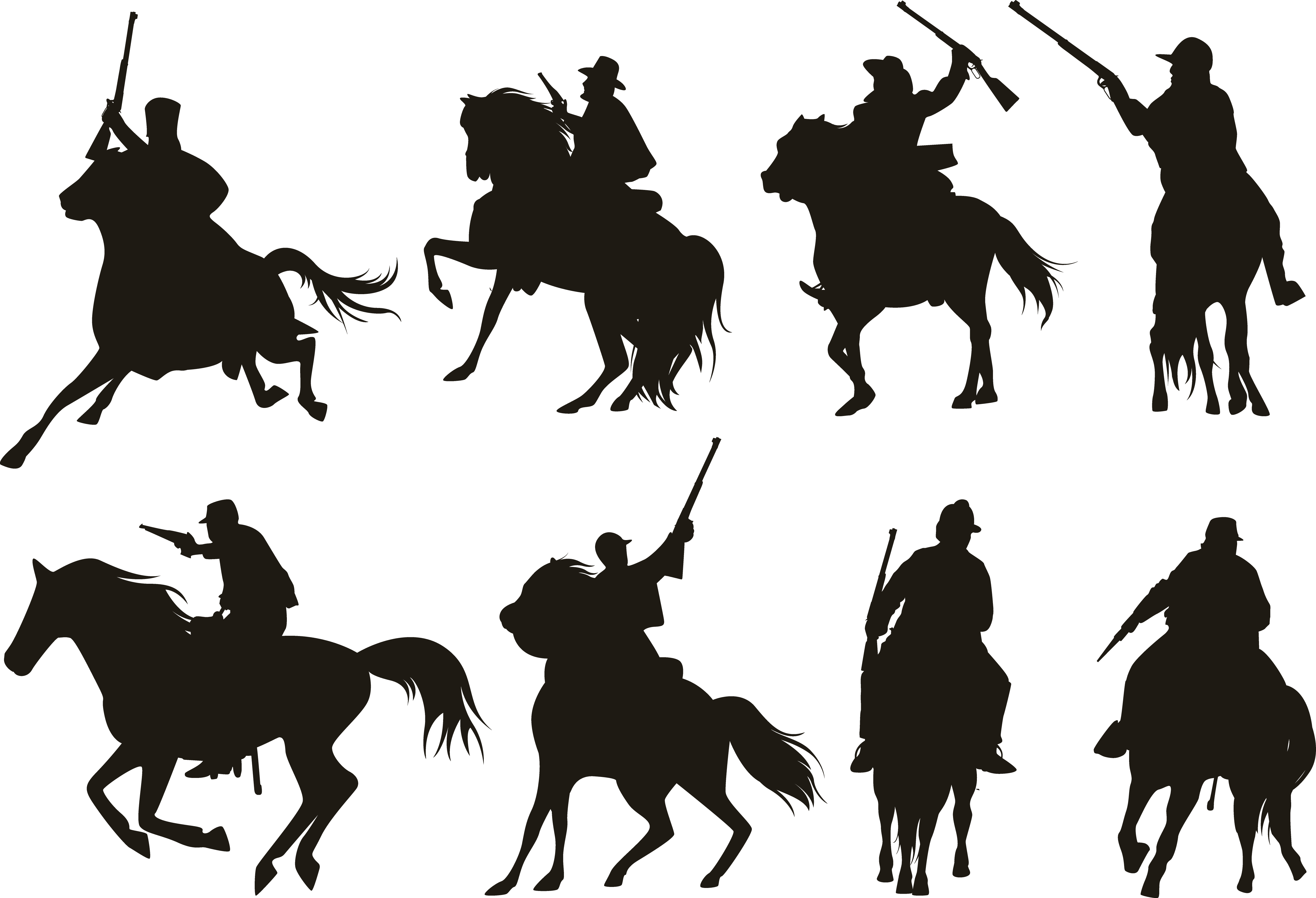 Pack horse silhouette at. Knight clipart cavalry