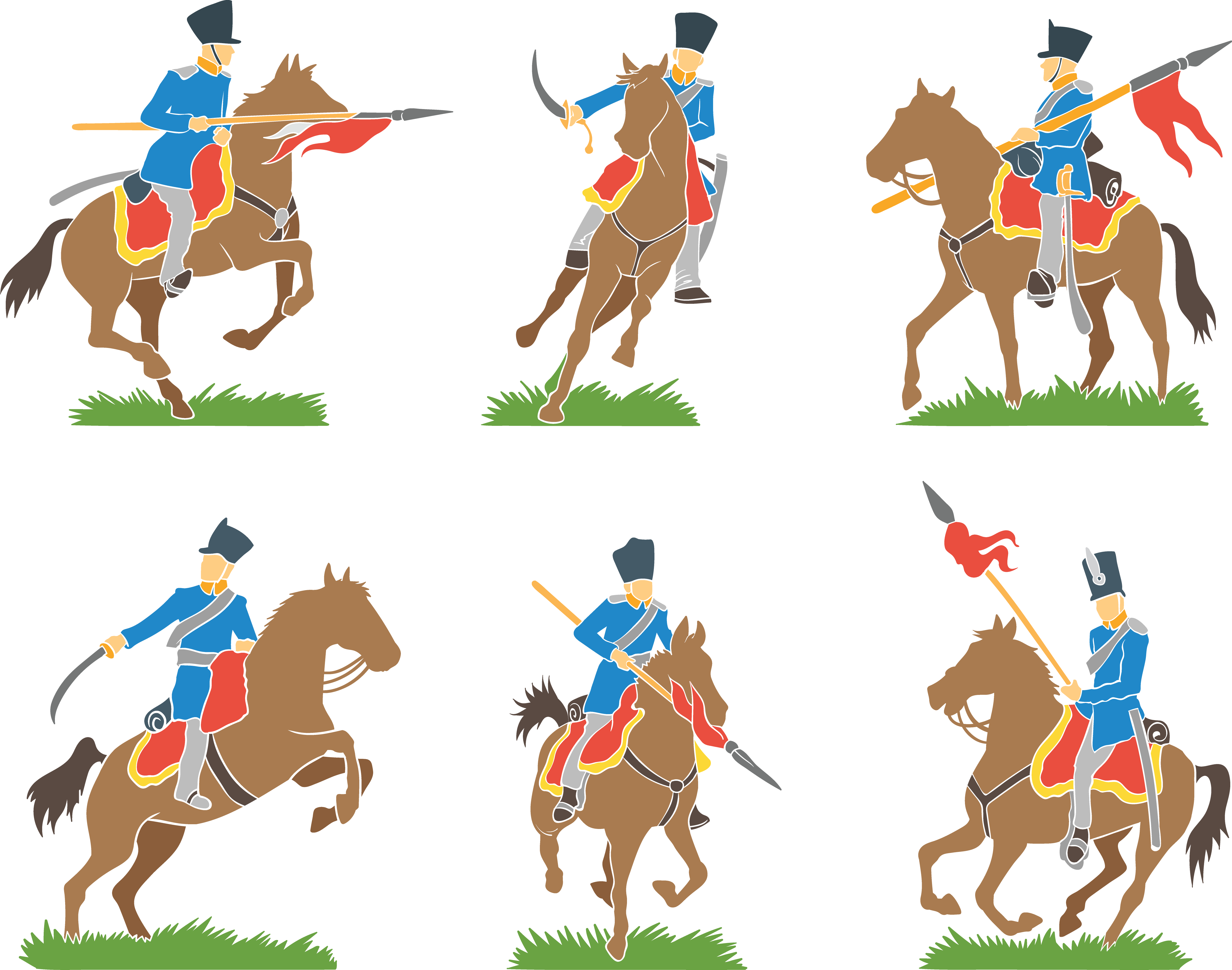 Knight clipart cavalry. Pony clip art handsome