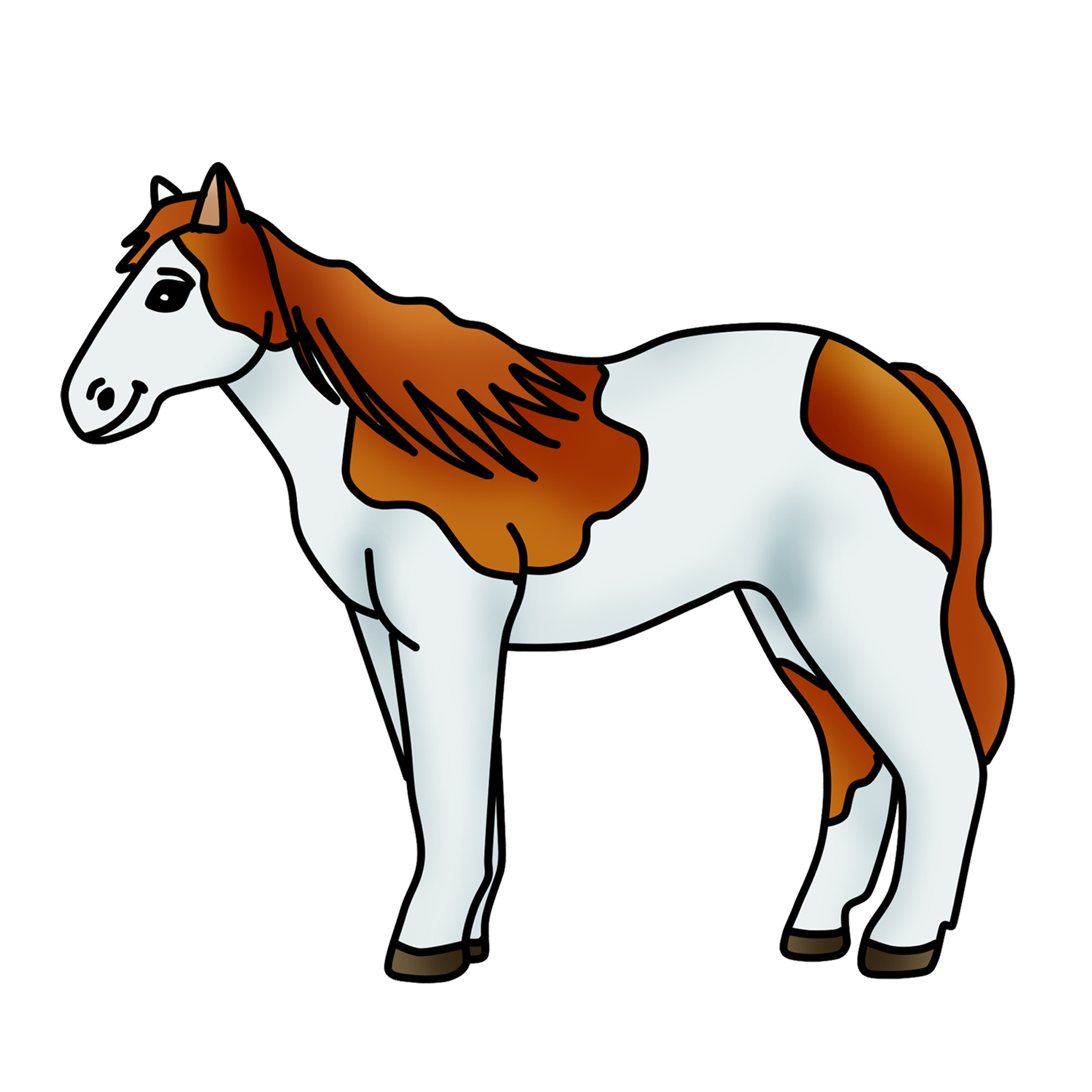 Spotted graphic free by. Horse clipart pony