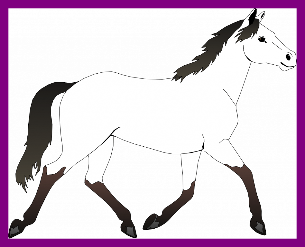 Impressive black and white. Mustang clipart horse coloring