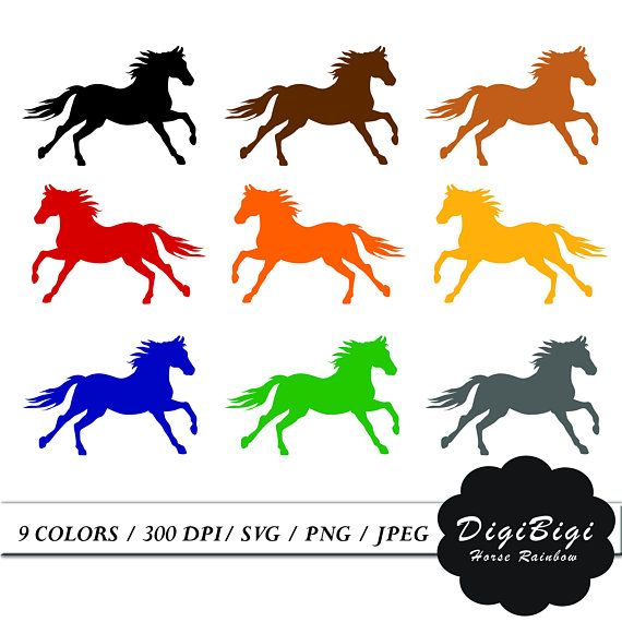 Svg stickers . Horse clipart printable
