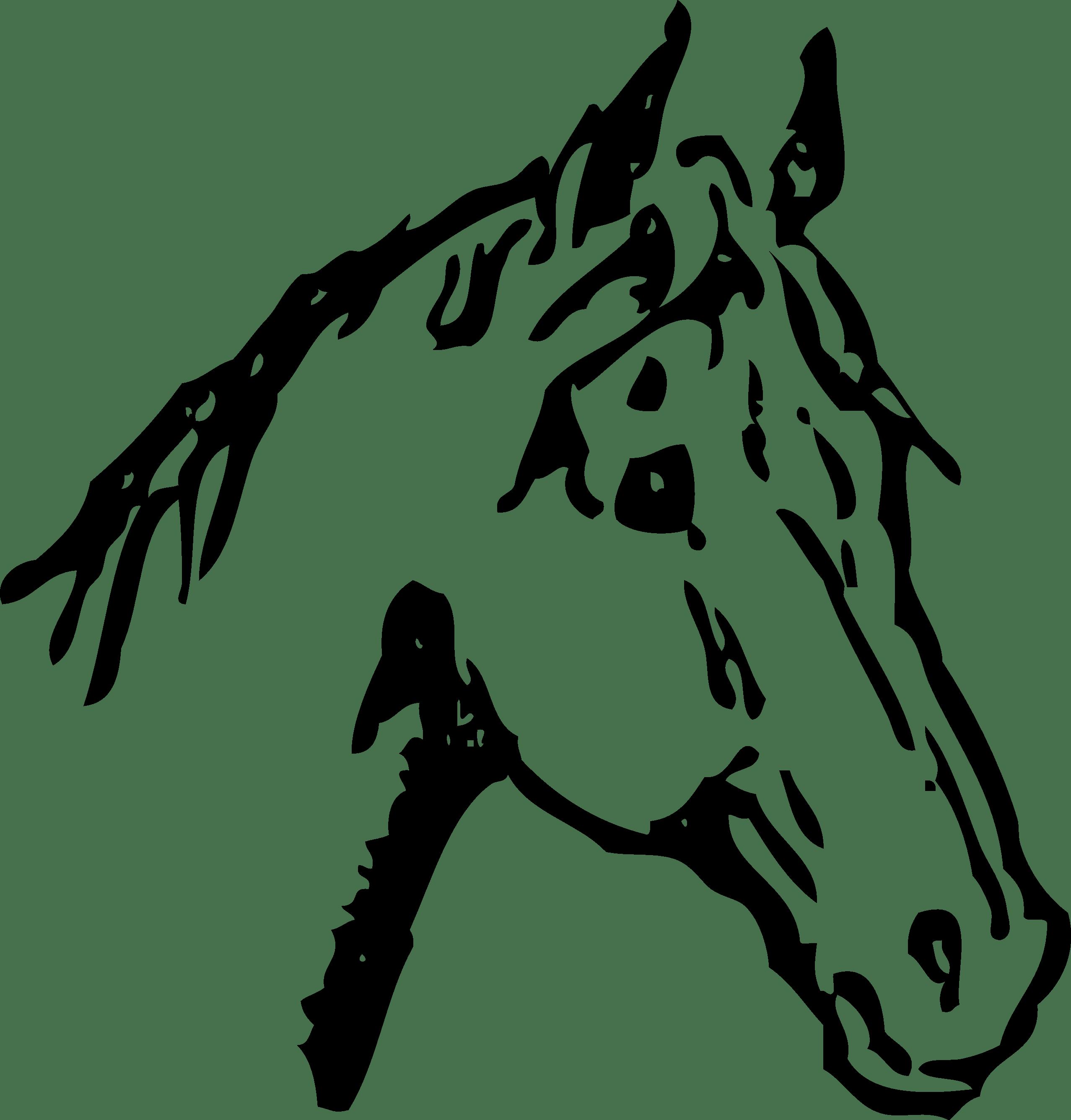 Head clip art image. Clipart horse quarter horse