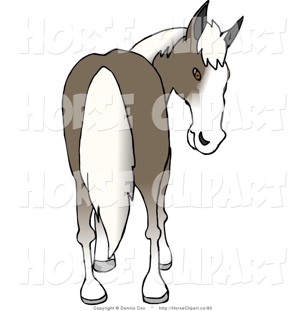 Clip art of a. Clipart horse rear