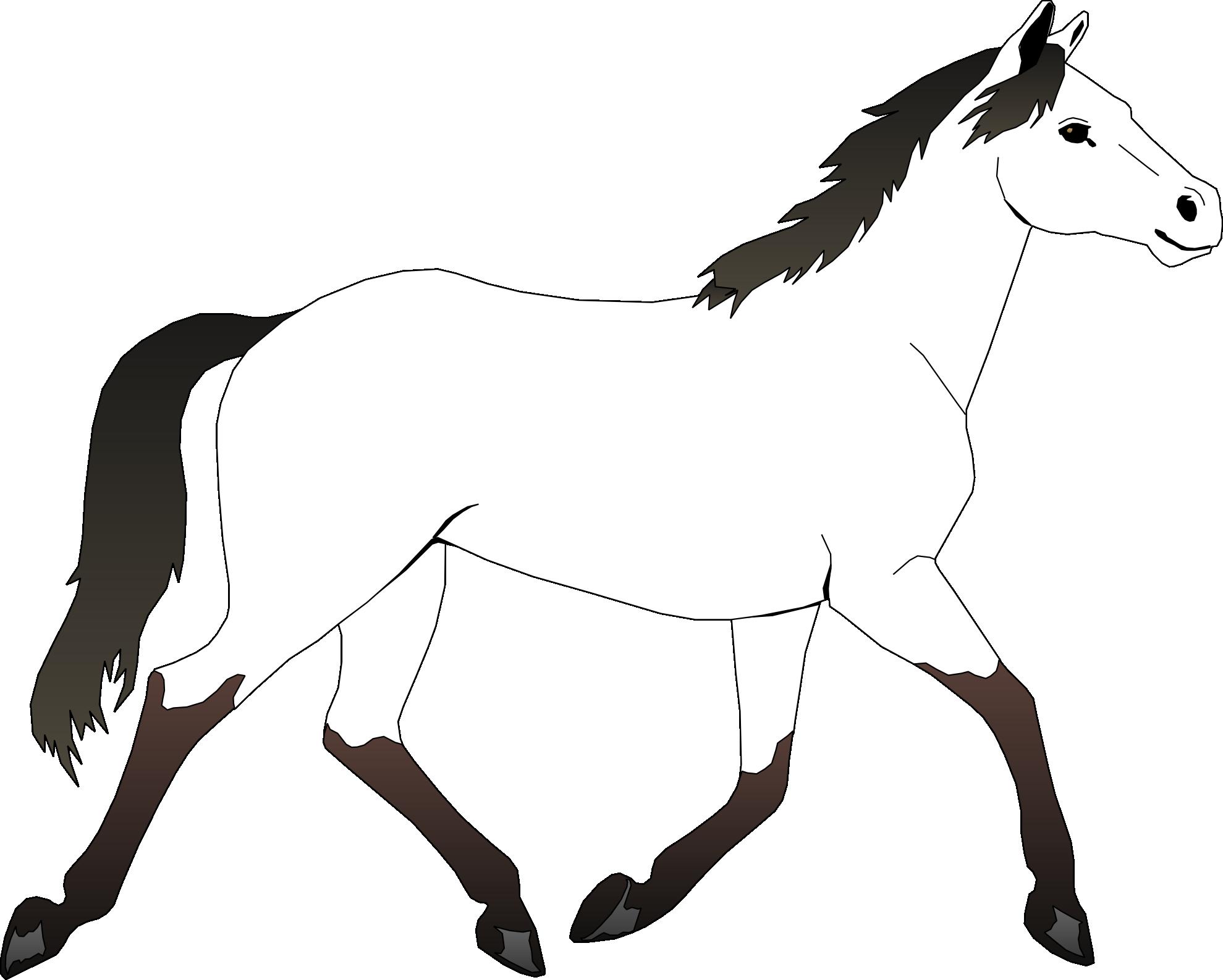 Horses clipart frame.  rear huge freebie