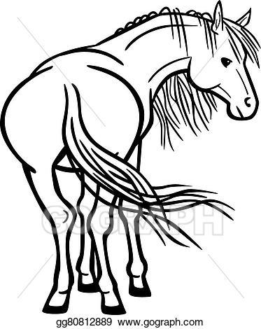 Clip art vector stock. Clipart horse rear