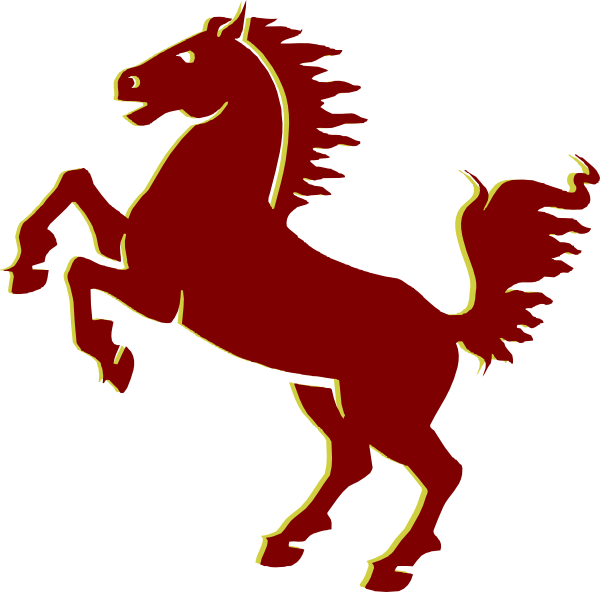 Maroongold print clip art. Mustang clipart mustang horse
