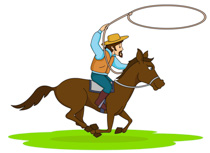 Horses clipart rope. Riding horse with lasso