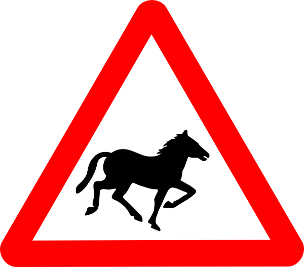 Horse clipart sign. Svg road signs clip