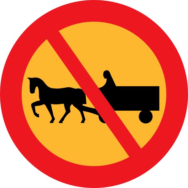 No and carts clip. Horse clipart sign