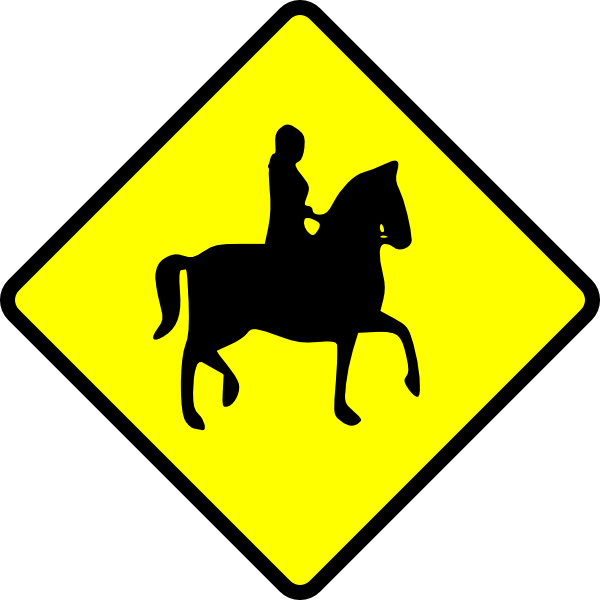 horse clipart sign