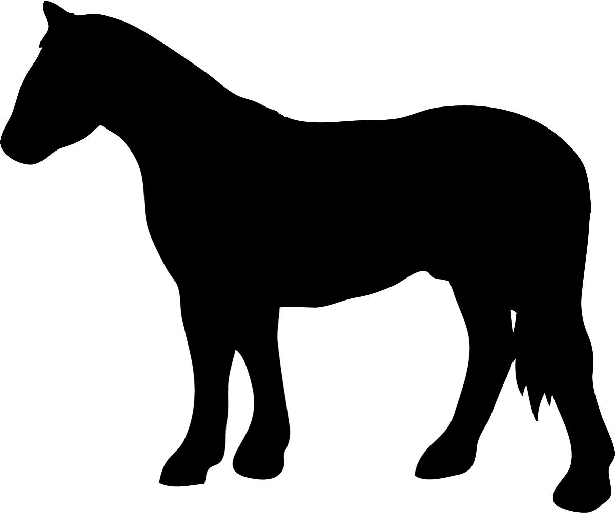 Horses clipart silhouette. Horse
