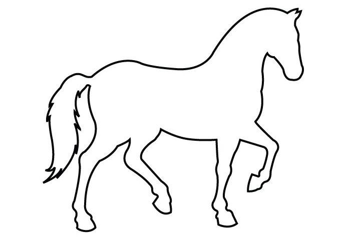 Horse outline best . Horses clipart simple