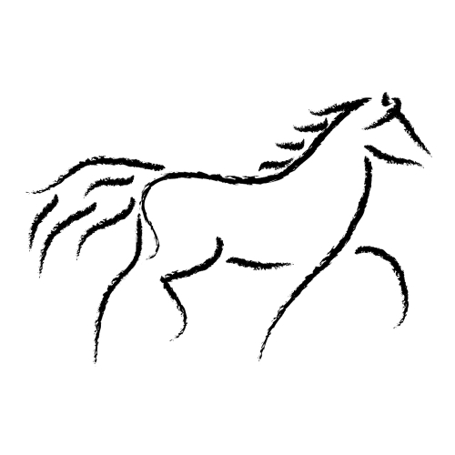 Horses clipart simple. Free running horse images