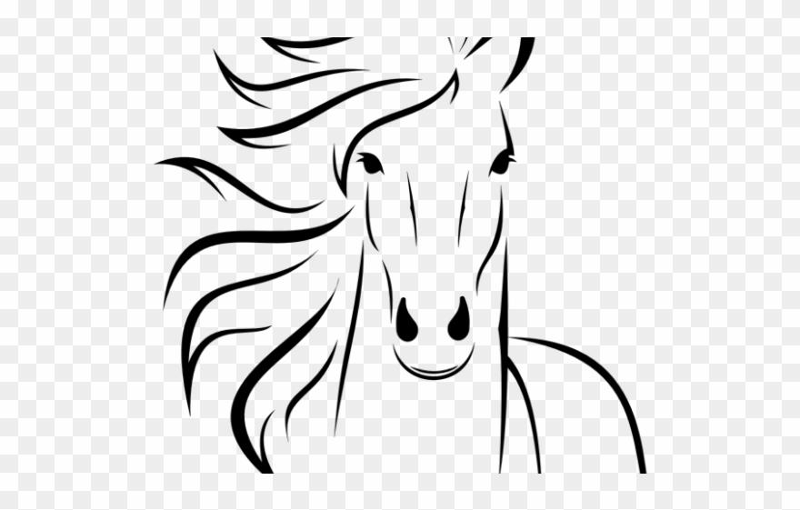 Horses clipart simple. Horse easy head drawings