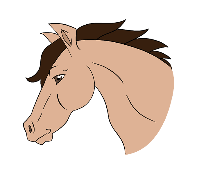 Head clipart mustang horse. Drawing easy at getdrawings