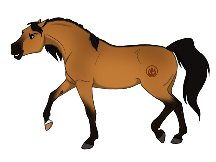 Clipart horse spirit. Fire princess by cat