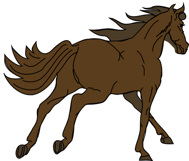 Female clipart horse. Pools drawing at getdrawings
