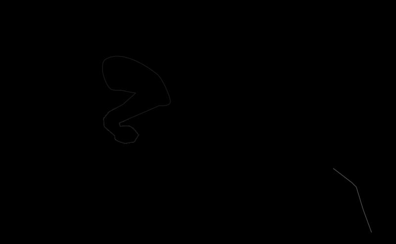 Clipart horse swimming. Jumping dog silhouette medium