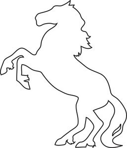 Stallion image drawing of. Horse clipart template