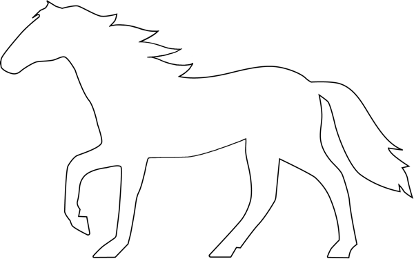 Horse clipart template. Logos eje art works