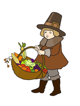 Clipart penquin thanksgiving. Happy pilgrim boy with
