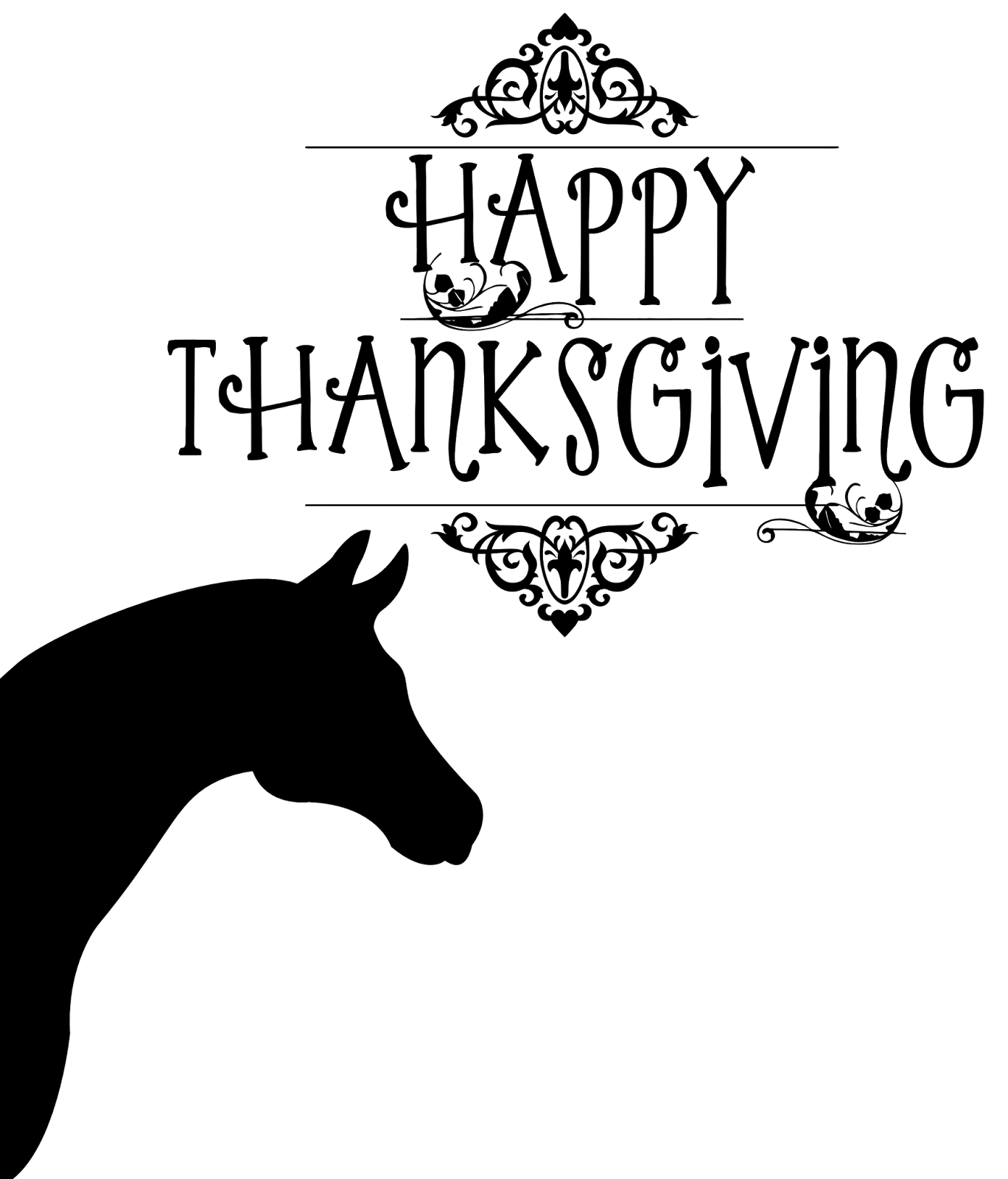 Free personal and commercial. Horse clipart thanksgiving