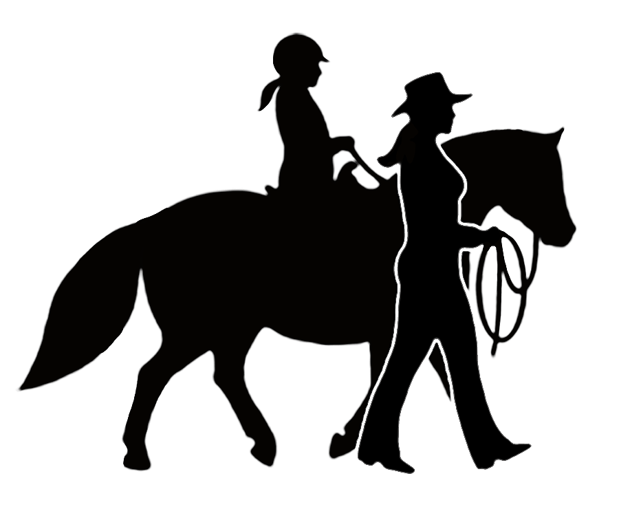 Horse cartoon equestrian silhouette. Horses clipart therapy
