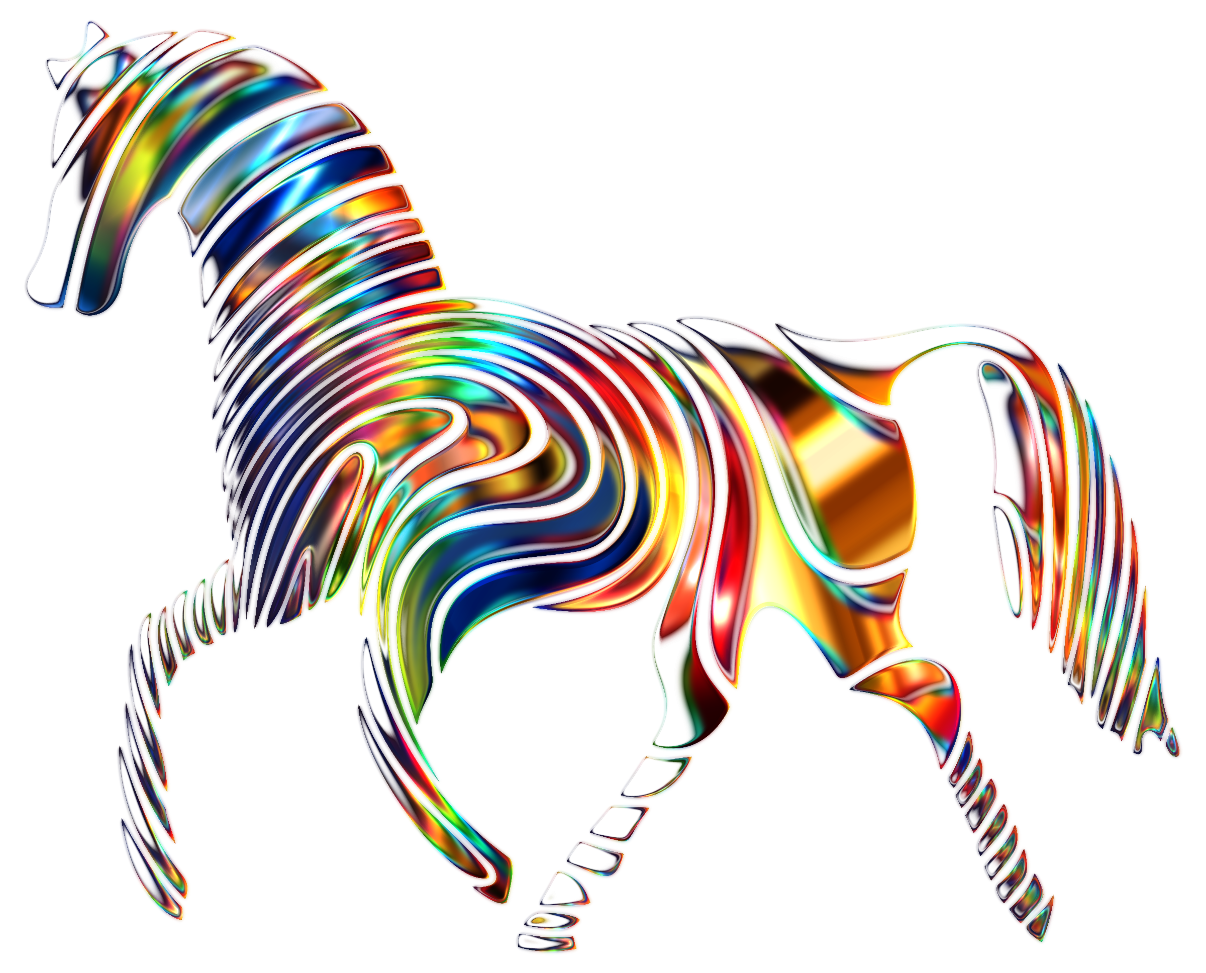Horses clipart therapy. Psychedelic horse big image