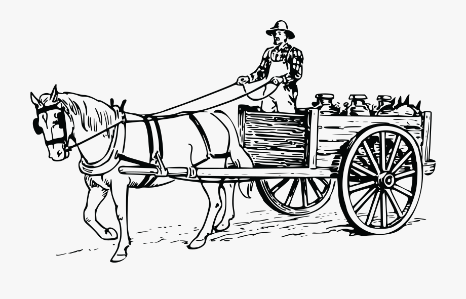 Free of a farmer. Clipart horse transportation