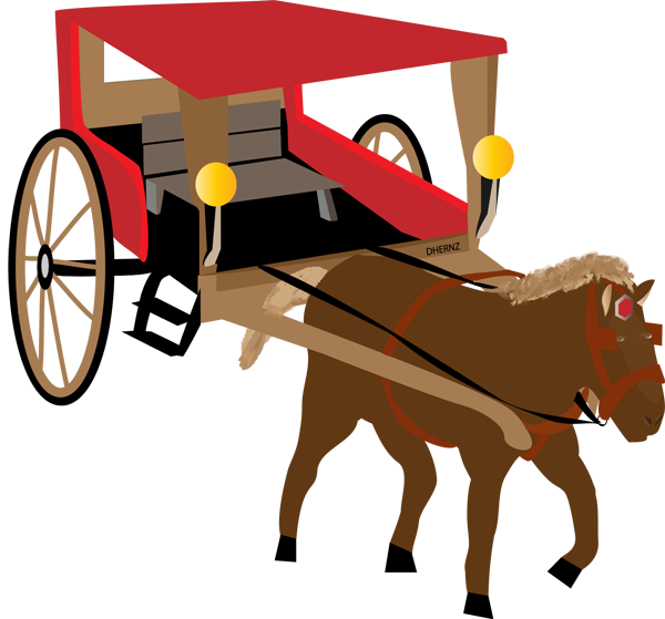 Sleigh clipart carriage. Horse and buggy at
