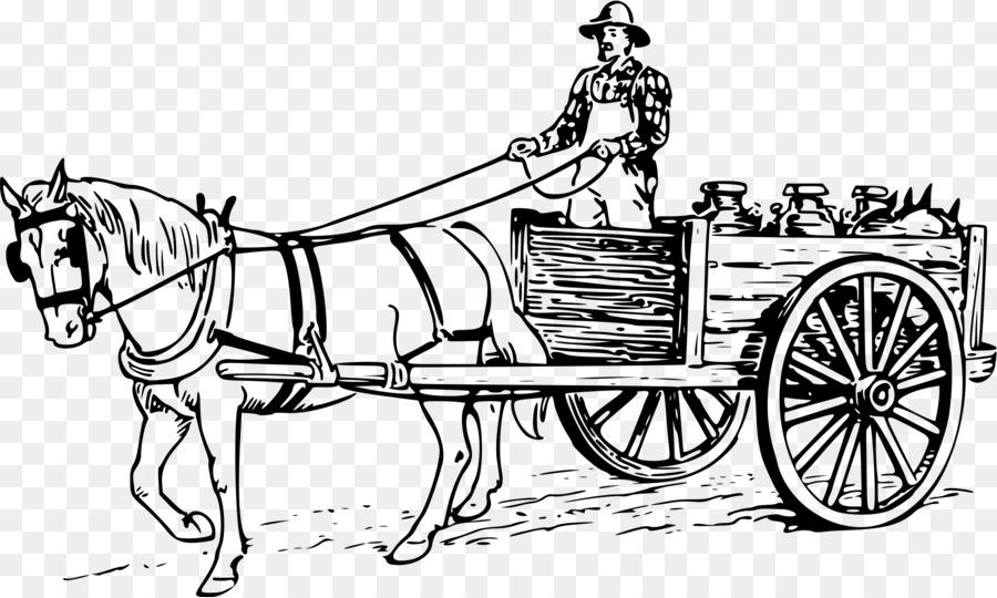 Tree drawing horse transparent. Wagon clipart bullock cart