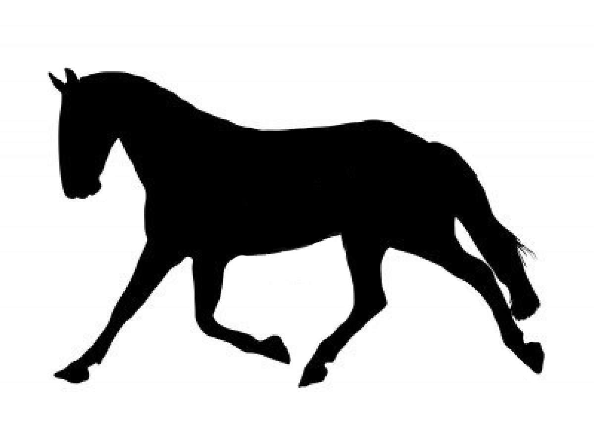 Free trotting silhouette download. Clipart horse trot