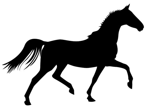 Clipart horse trot. Free trotting silhouette download