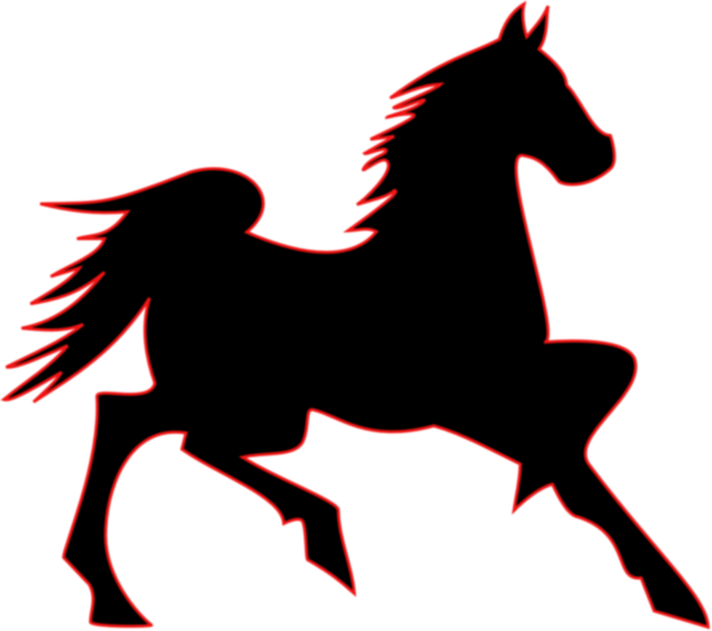 Clipart horse trot. Trotting silhouette at getdrawings