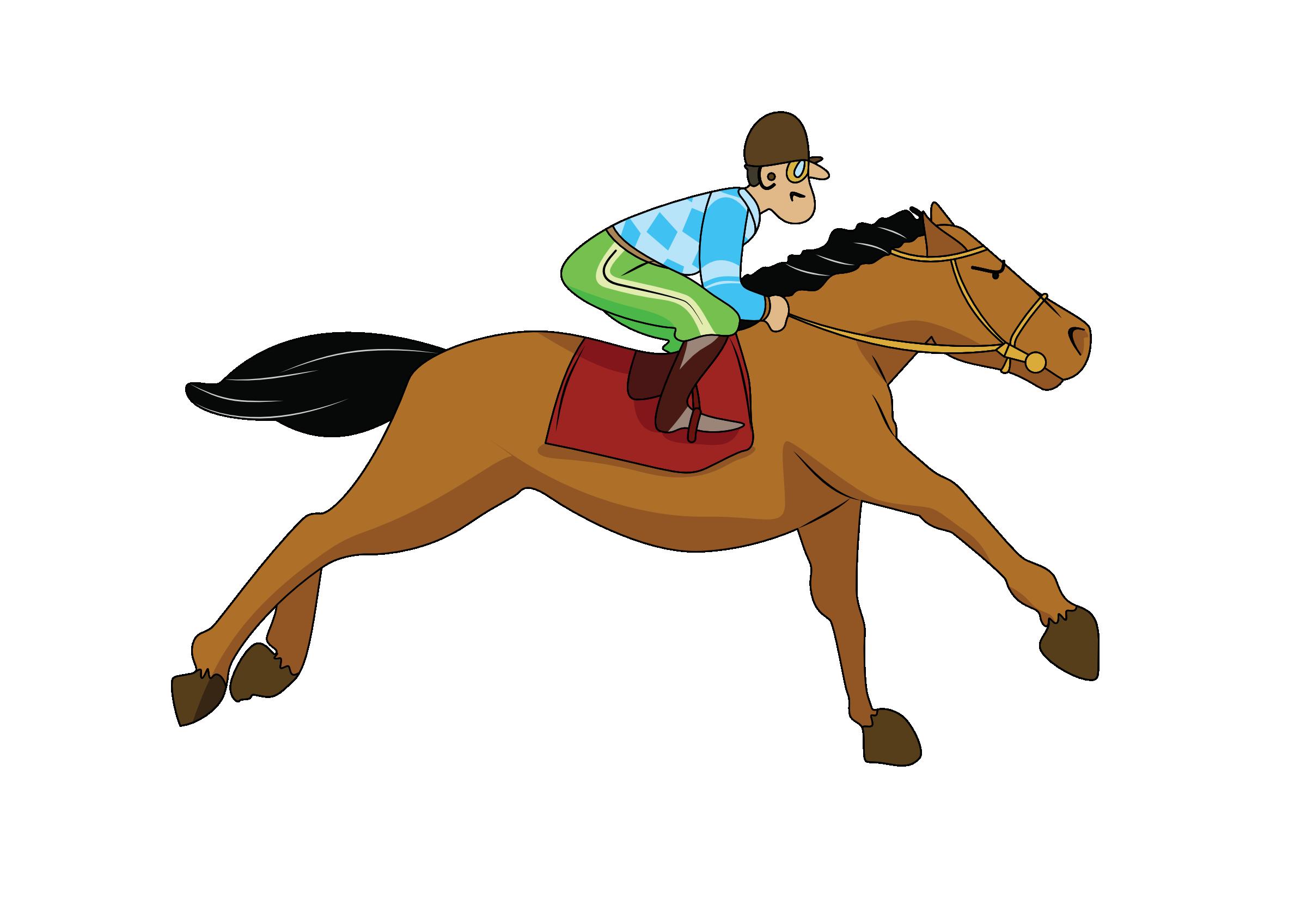 Girls clipart horseback riding. Galloping horse panda free