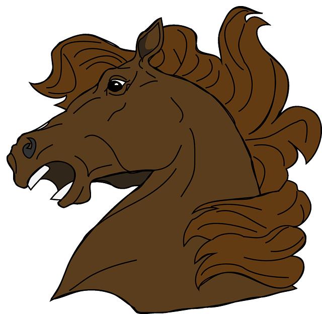 Mad head . Clipart horse vector