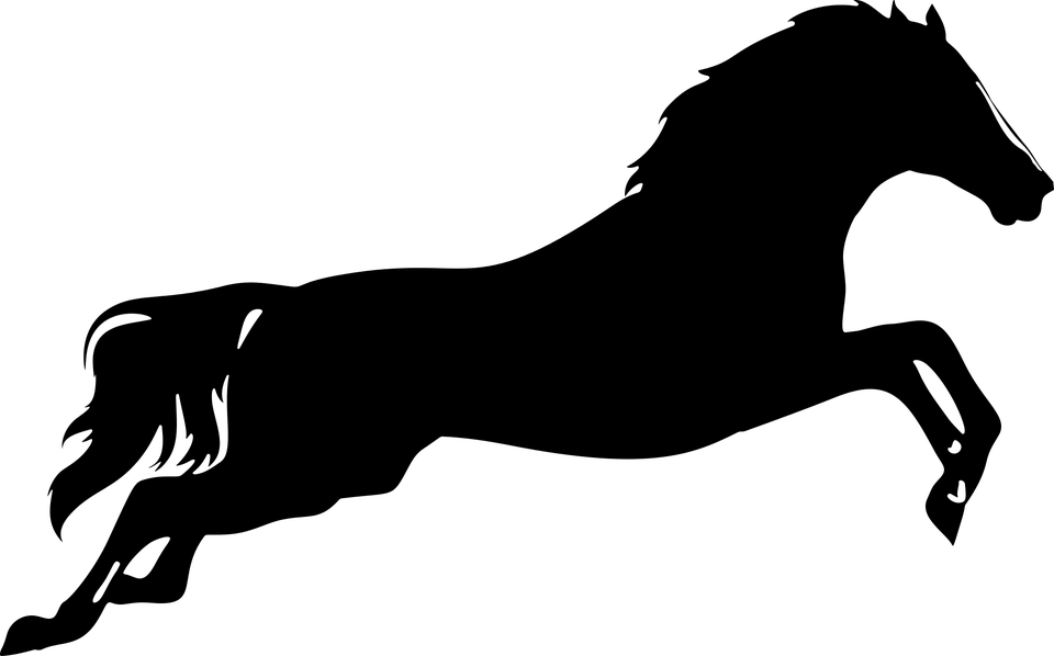 Clipart horse vector. Jumping silhouette desktop backgrounds