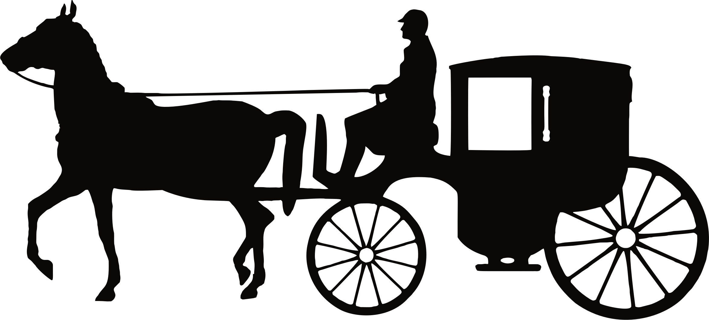 Horses clipart vehicle. Man driving carriage big