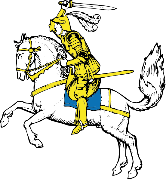 Warrior clipart line. On horse clip art
