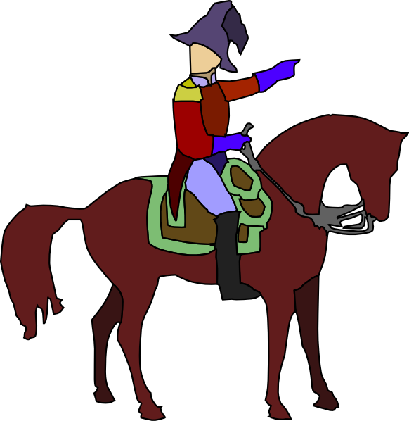 Historic soldier on a. Knight clipart cavalry