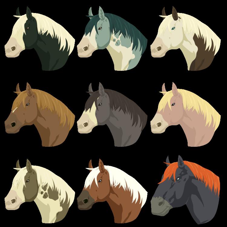 clipart horse wild horse