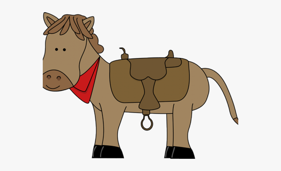 Wild west horse with. Cowboy clipart themed