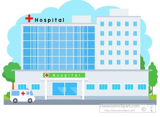 Clipart hospital. Building writings and essays