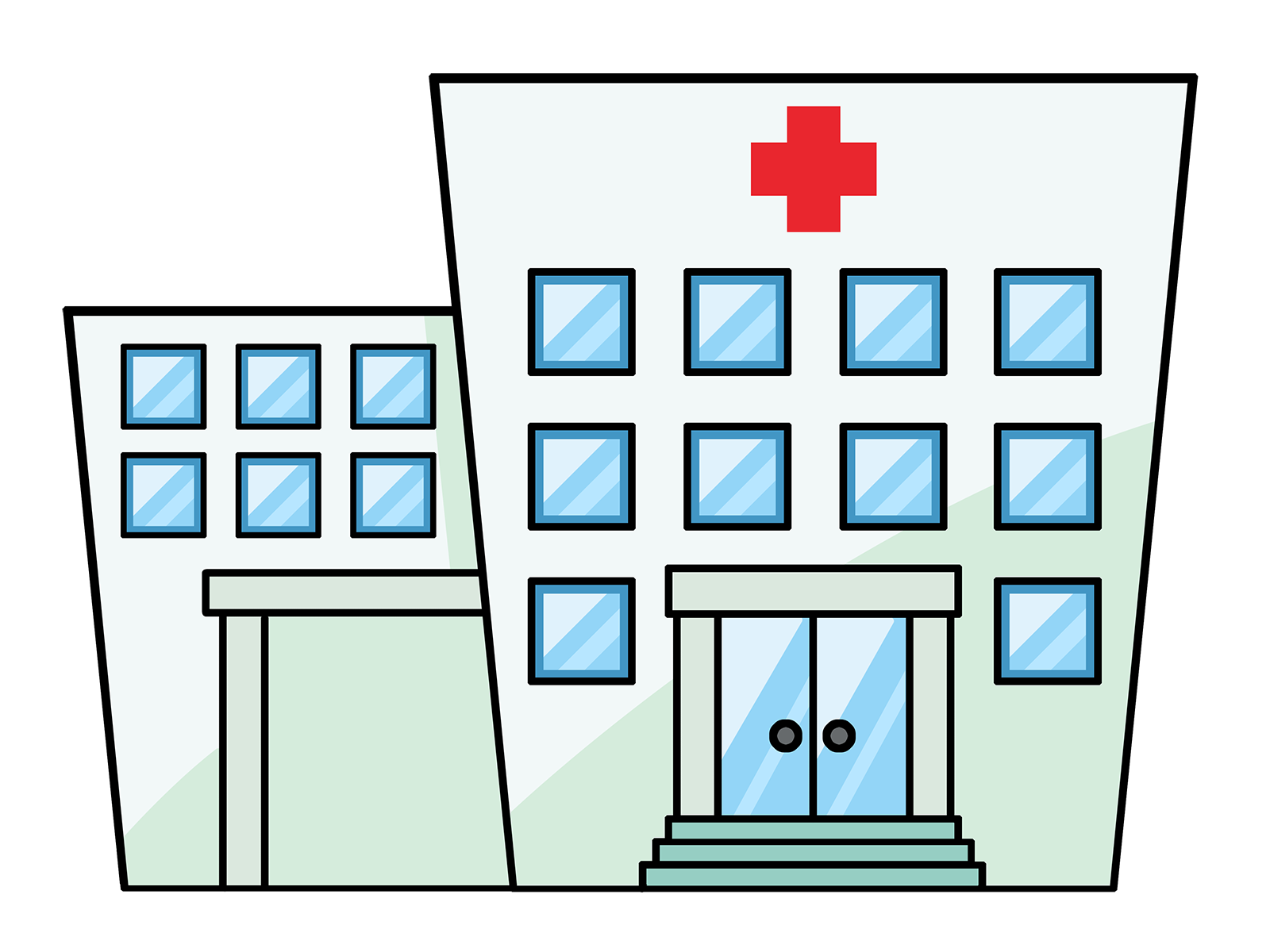 Cartoon hospital . Health clipart health office