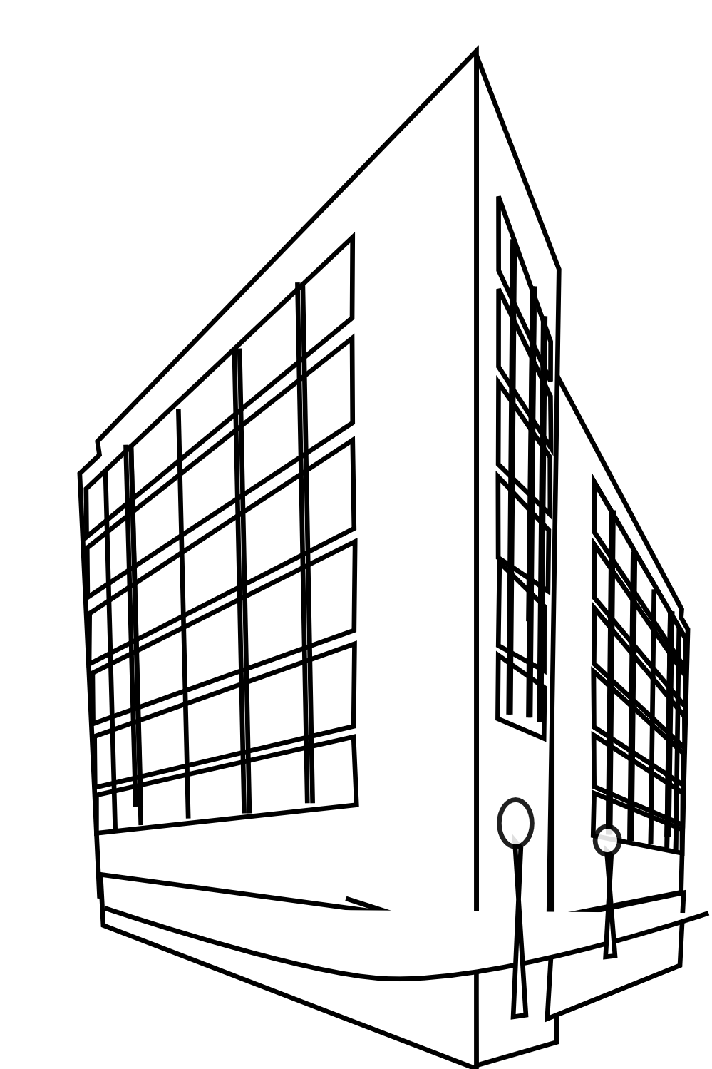Building panda free images. Mall clipart black and white