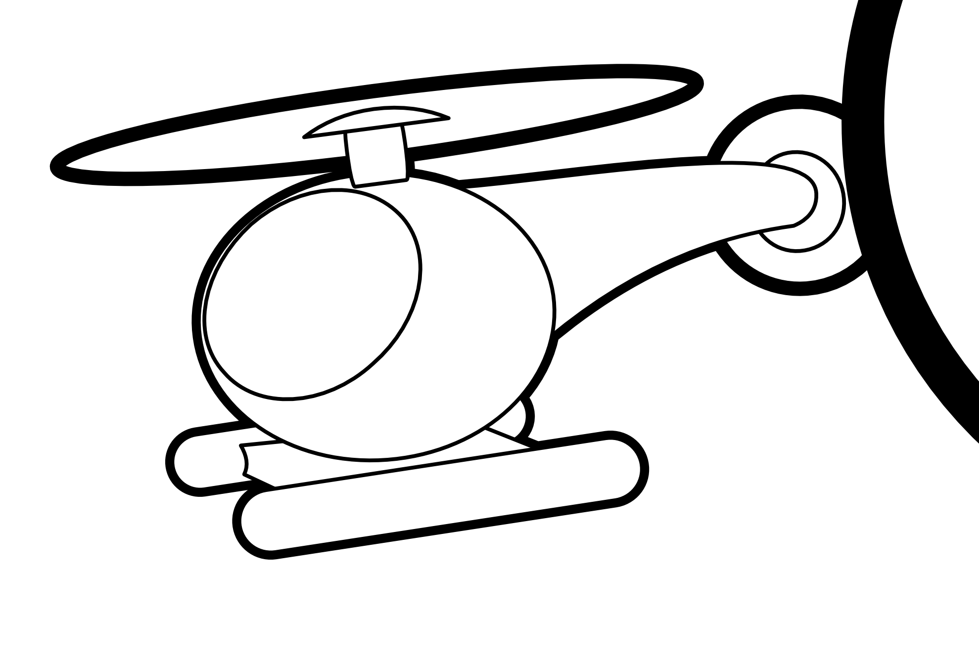 cool helicopter panda. Jet clipart black and white