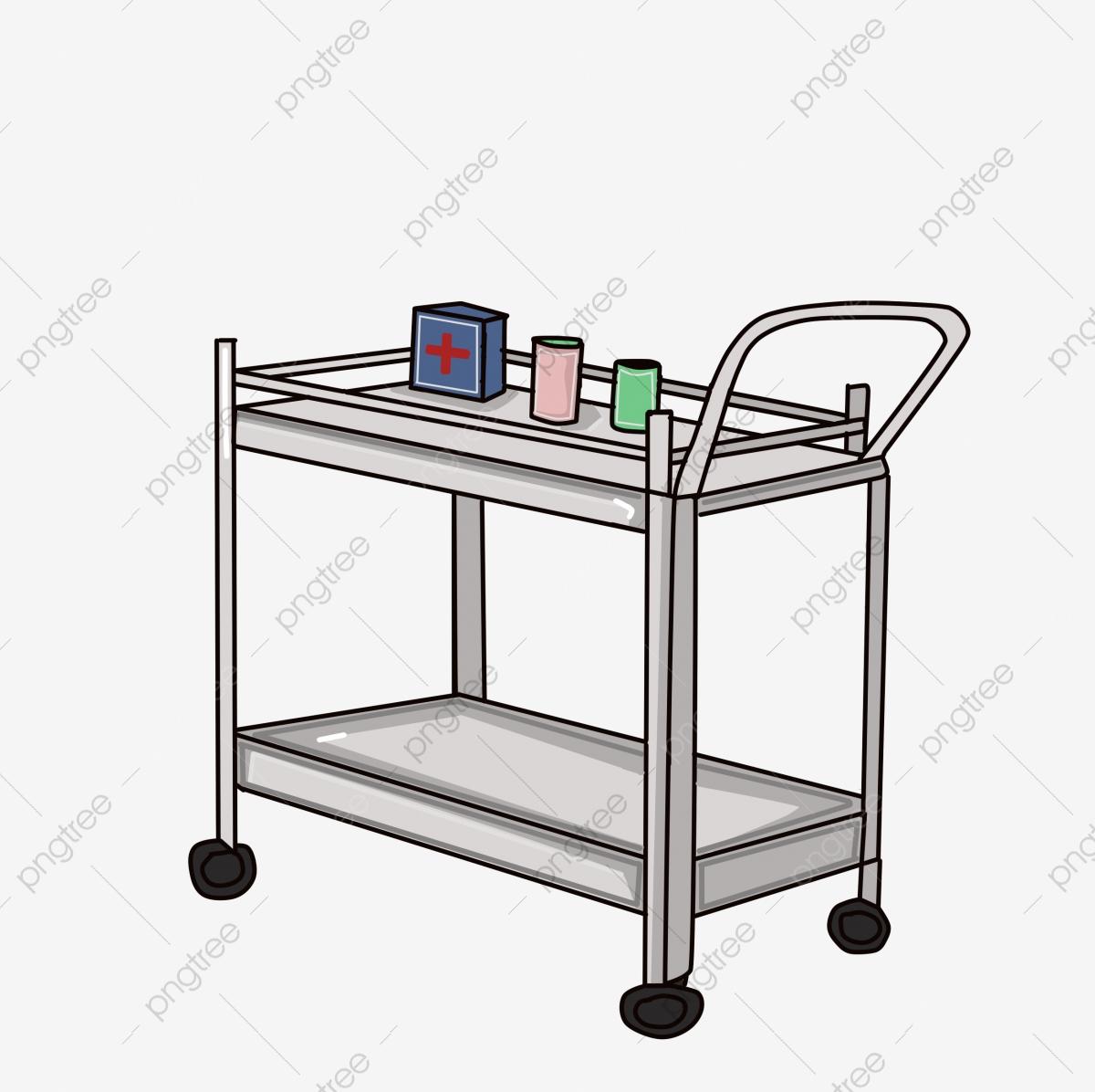 Cartoon medicine bottle . Hospital clipart cart