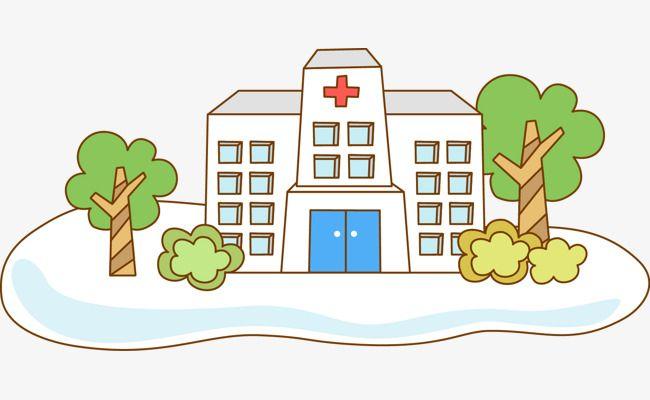 Hospital clipart illustration. Cartoon