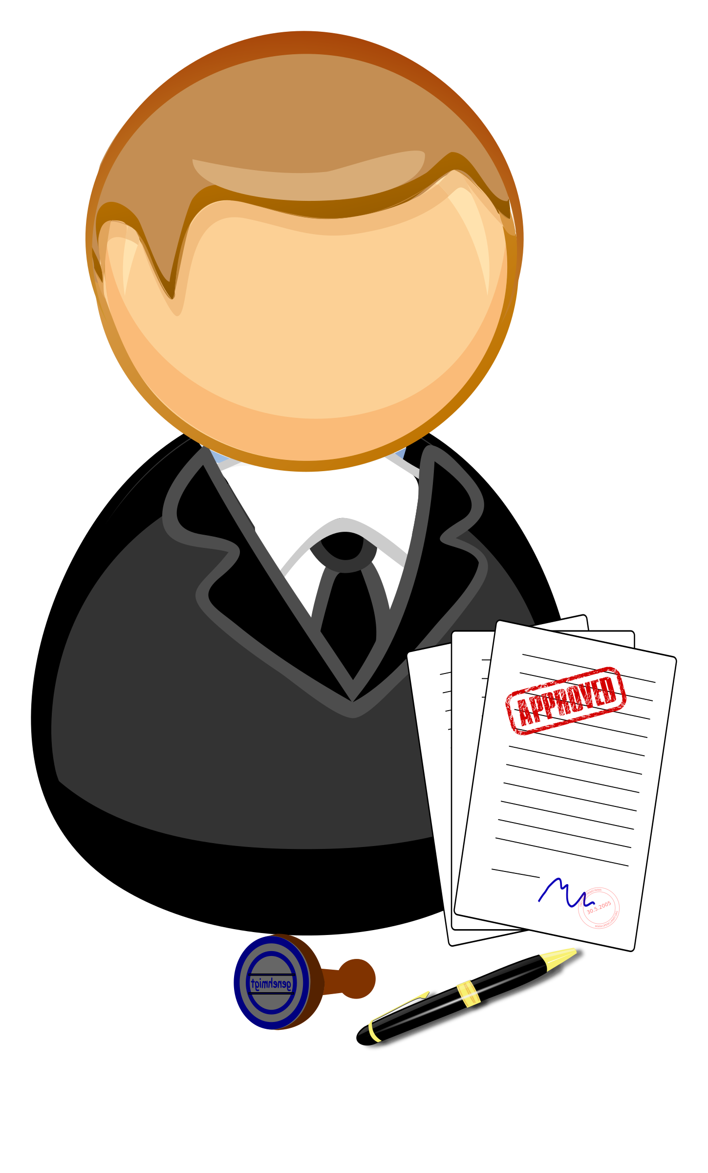 collection of clerk. Office clipart officer