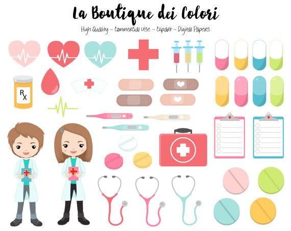 Medicine clipart cute. Doctor digital graphics png